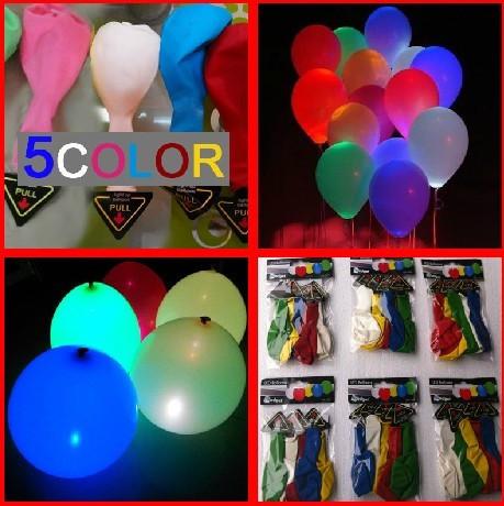 20pcs/lot Glowing Wedding Decoration High Quality Ballon Led Flashing Baljoons light up toy luminous baloons(China (Mainland))