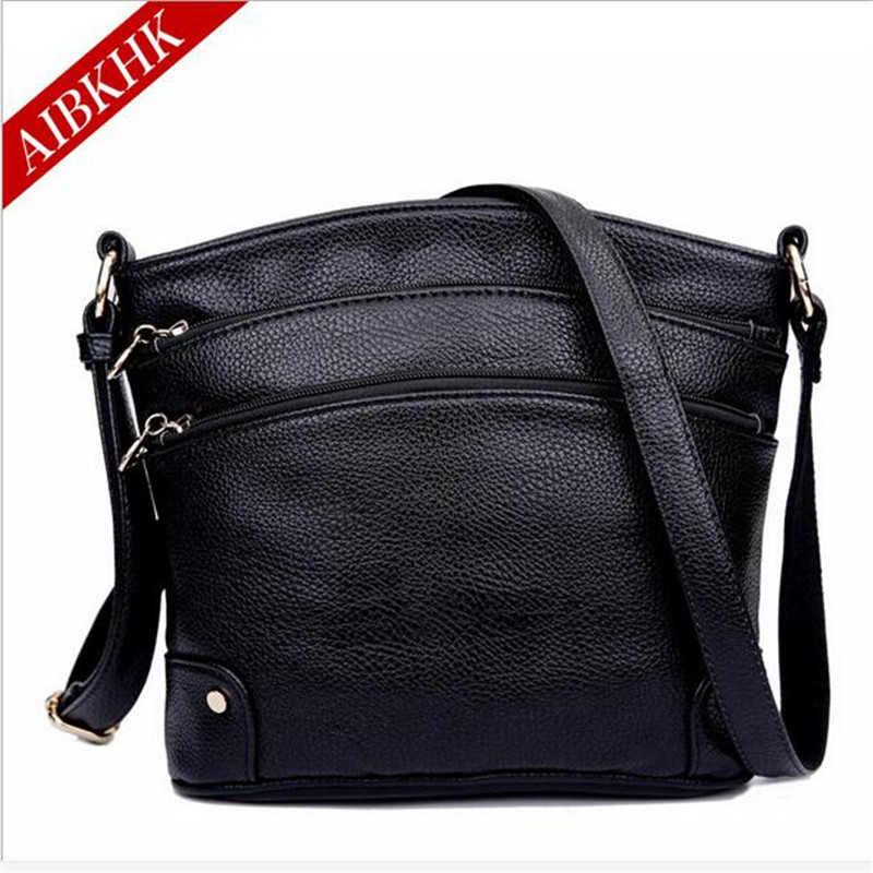 AIBKHK Genuine Leather Bags For Women Middle-Aged Female Shoulder Bag Sac A Main Femme De Marque Fashion Women Messenger Bags(China (Mainland))