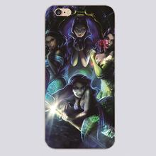 Mermaids Design black skin case cover cell mobile phone cases for iphone 4 4s 5 5c 5s 6 6s 6plus hard shell