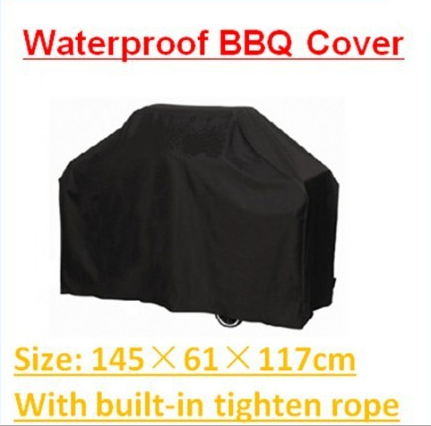 "BBQ Cover Waterproof 57"" 145cm Gas Barbecue Grill For Patio Protector grill protective cover Garden Patio Rain Dust(China (Mainland))"