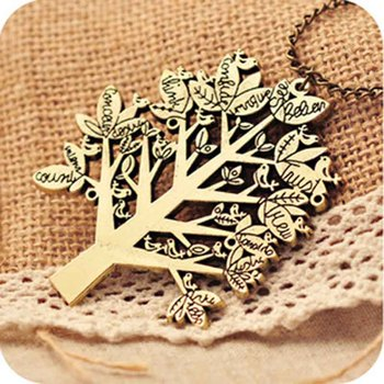 Free shipping more than $15+gift vintage bird christmas fashion euramerican style tree chain necklace jewelry 27g
