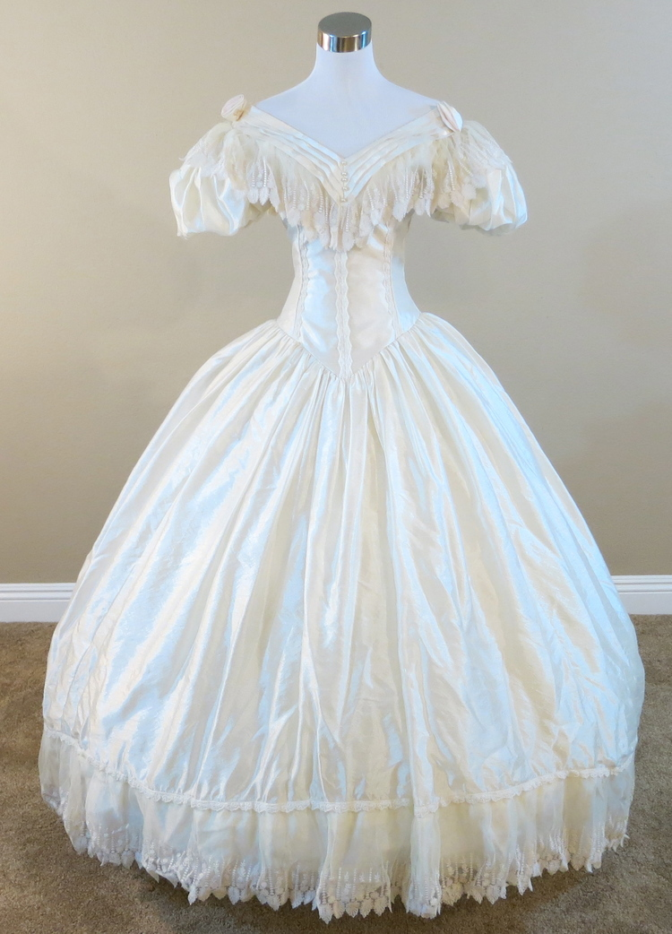 Popular civil war wedding gowns buy cheap civil war for Civil war style wedding dresses