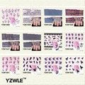YZWLE 1 Sheet DIY Decals Nails Art Water Transfer Printing Stickers Accessories For Manicure Salon   YZW-8178