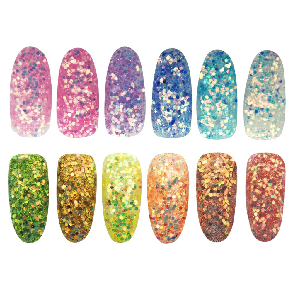 HOTSALE High Gloss Glitter Dust Nails Glitter Acrylic Poeder For Nail Art Tips For Nail Accessories(China (Mainland))