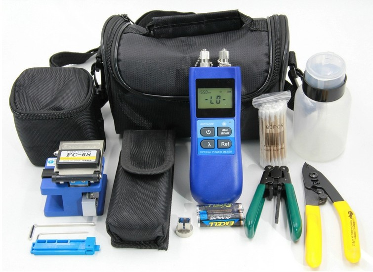 Здесь можно купить  FTTH Assembly Optical Fiber Termination Tool Kit and Fiber Optic Cleaver FC-6S Fiber Stripper,Power Meter Red Source 10mW  Телефоны и Телекоммуникации