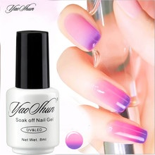Yaoshun 60Colors Temperature Change Nail Gel Polish 8ml UV Soak Off DIY Nail Art Varnish Polish New arrival Perfect Summer