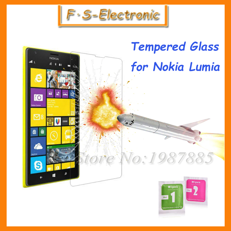 10pcs/lot Premium Thin Film 9H 2.5D Tempered Glass screen for Microsoft Nokia Lumia 435/535/550/630/640/730/930/950/1020/1520(China (Mainland))