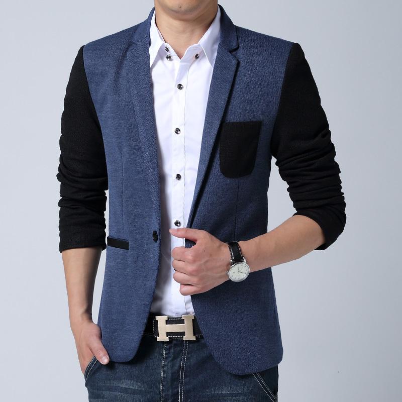 2015 new arrival blazer men cotton linen patchwork men suit plus size men blazer slim fit blazer men suit jacket 4XL 5XL 6XL(China (Mainland))