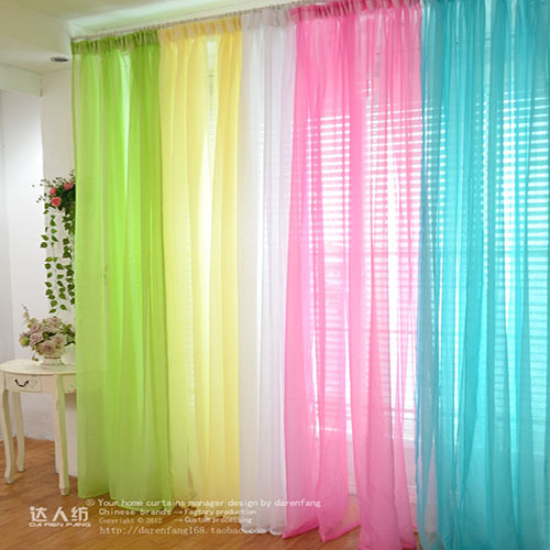 [해외]1 Pcs. Sheer Voile Window Panel curtains Scraf Many..