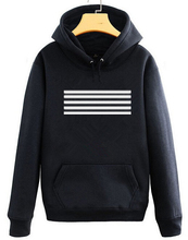 Buy Bigbang concert made stripes printing hoodies gd top black white pullover sweatshirt plus size vip's supportive tracksuits for $21.53 in AliExpress store