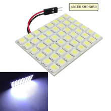 Super Bright LED Panel Dome Lamp Auto Car Interior Reading Plate Light Roof Ceiling Wired Lamp 9 12 15 18 24 48  5050 SMD(China (Mainland))