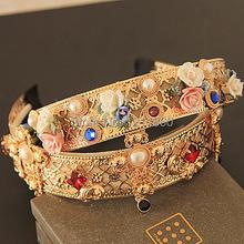 Роскошь повязка на голову мягкий цветок модный крестики жемчуг золото ну вечеринку DG ювелирные изделия Hairjewelry Accessaries sjipping F002
