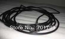 BLACK 3m(10feet)3 core waterproof extension cable,one end with male,the other end with female,male connector's diameter:13.5mm(China (Mainland))