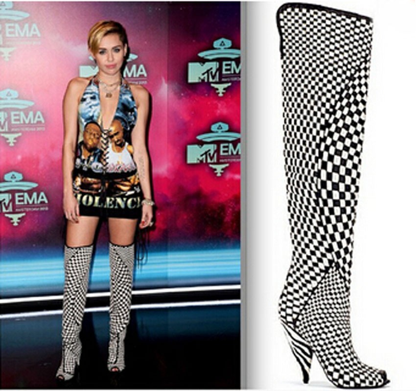 2015 New Women Gladiator Thigh High Heels Motorcycle Boots Sexy Women Boots Over The Knee Peep Toe Boots Fall Winter