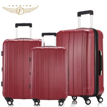 Buy ABS PC 20 24 28 Red Waterproof Lightweight Hardside Travel Carry-on Luggage Suitcase 1 Piece Spinner 4 Wheels Fochier XQ018 for $82.08 in AliExpress store