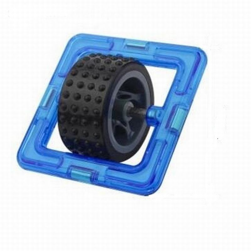 Square Magnetic Blocks With Boy Girl Dolls Wheel Building Car Toy Children Educational Game Toddler Building Construction Toys(China (Mainland))