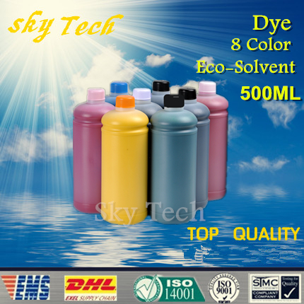 500ML*8 color   Eco Solvent Ink  suit for Epson 4880 7880 printhead Flatbed  Printer,  for wood , Leather , metal ,ceramic ,PVC<br><br>Aliexpress