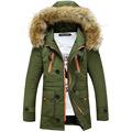 2016 Winter Men s Fur Hooded Coat Casual Army Tactical Jacket Coat Brand Male Sweatshirt Windbreaker