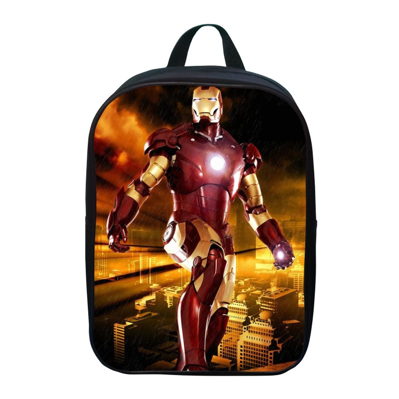 """New 12"""" Printing Cool Hero Iron Man Cartoon Small Student Bag For Boys Gift Pack Children Backpack Kids School Bags for Girls 05(China (Mainland))"""