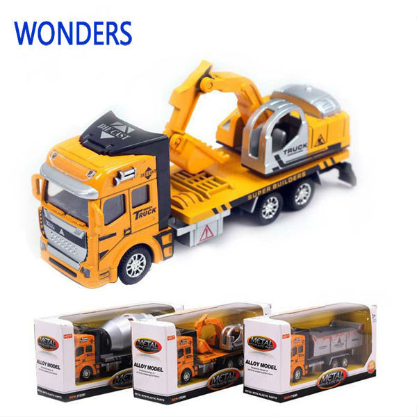 Manufacturers specials Excavator Diecast cars, 1:48 alloy construction Crane vehicles truck best gift(China (Mainland))