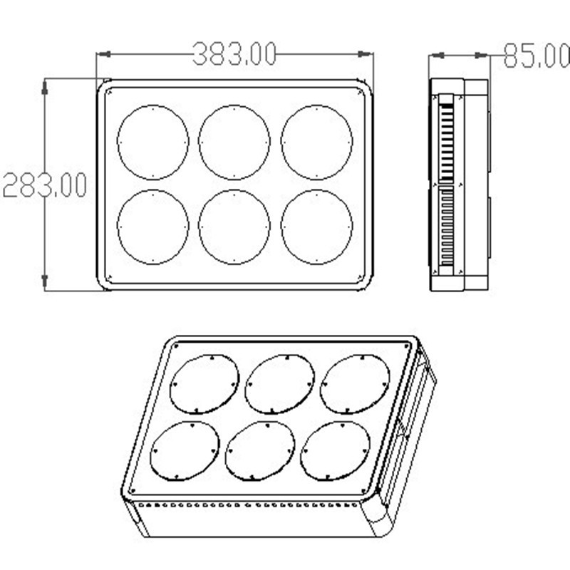 APOLLO 6 270W LED GROW LIGHT  For Medical Flower Plants Grow and Flower