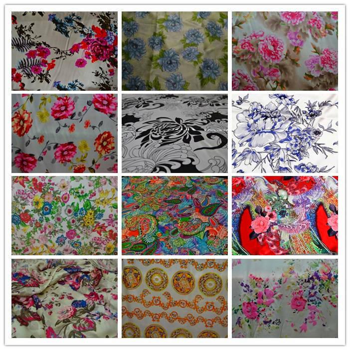 2015 NEW Free shipping new 100% mulberry silk fabric charmuse silk printed plain scraf dress bedding set many colors SCF-AP(China (Mainland))