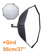 95cm Octagon Softbox Reflector+Bowens Mount with Grid for Studio Flash Photo Studio Soft Box Photography Accesorios Fotografia