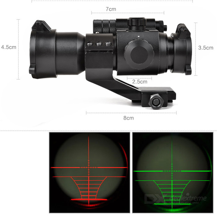 M2+multi-function clip(9-28mm) Rifle Scope with Holographic 4 Reticle Sight & Red Laser Combo Airsoft Gun Weapon Sight Hunting(China (Mainland))