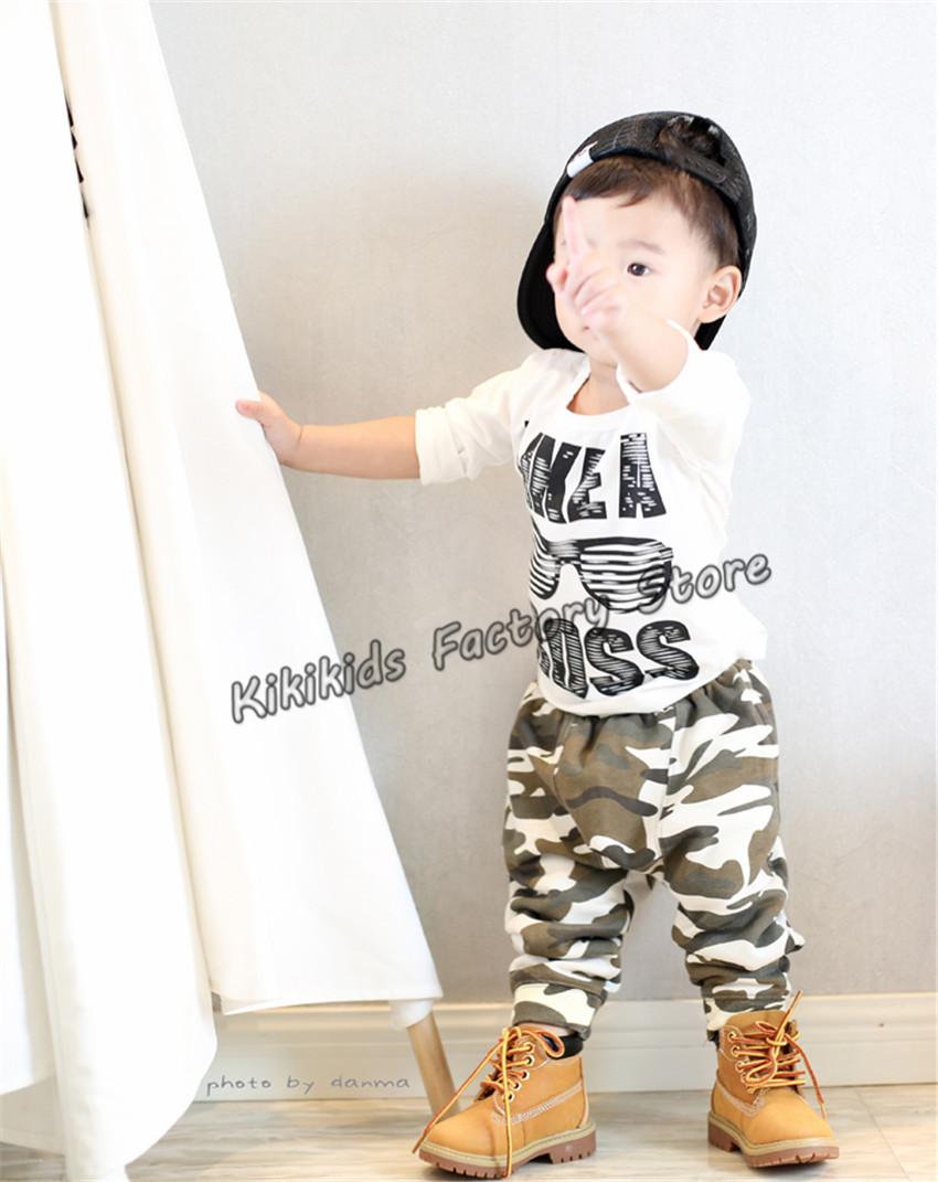 Retail Baby Boy Camouflage Harem Pants Cotton And Terry Boys Harem Pants Fashion Baby Boy Harem Pants W/ 2 Colors(China (Mainland))