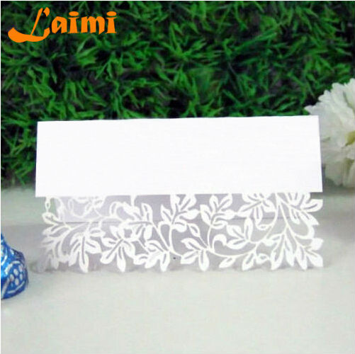 10X Pierced Laser Cut Flower Vine Paper Crafts Elegant Wedding Invitation Card Decorations Free Shipping(China (Mainland))