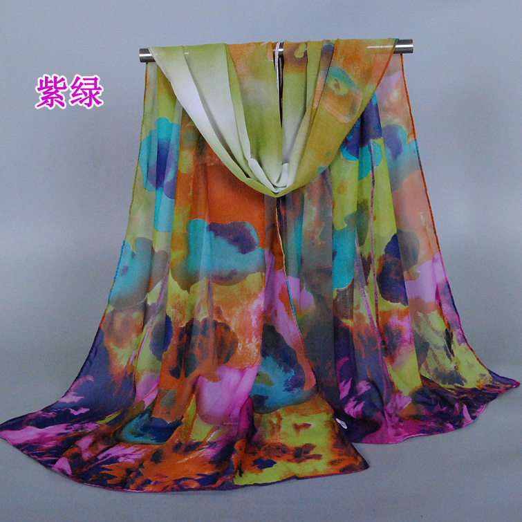 2015 new design printe painting scarf scarves flower