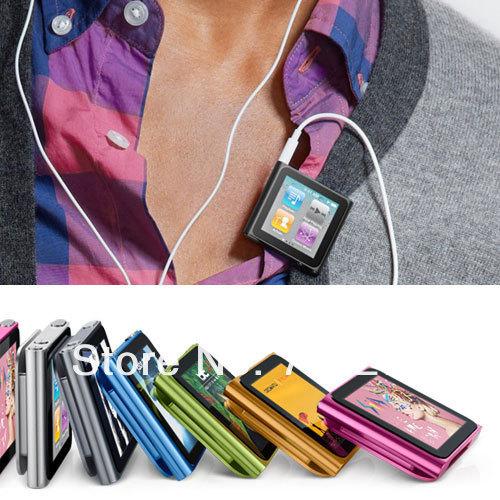 New 1.8 inch screen 6th gen digital Clip MP3 MP4 Player with FM/Video/E-book Fution  Support 1-16GB Micro memory card