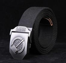 Buy designer 2016 avengers casual men canvas belt Metal Buckle jeans Military fashion mens brand belts black navy stripes 120 cm for $7.60 in AliExpress store