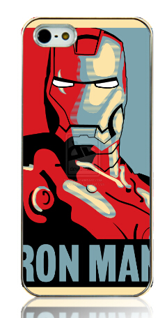 2015 Hot New iron man white Hard Back Case Cover for iphone 5 5s 5G Free shipping