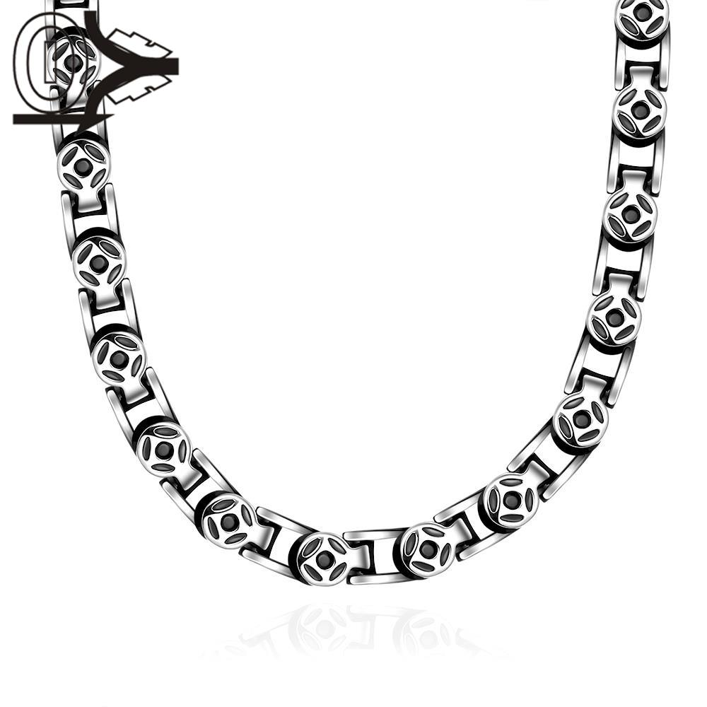 N060 hot China supplier latest design 316L stainless steel fashion Necklace Punk Style Movie Props Women Men's Necklaces(China (Mainland))
