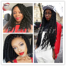 12 Strands/Piece Afro Crochet Braiding Hair Extensions Havana Mambo Twist,High Quality Goddess Curly Braids Eunice Hair Company
