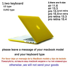 Christmas gift Clear Crystal Rubberized Matte Surface Hard Cover Case Sleeve For Macbook Pro 13 15 Pro Retina 13 15 Air 11 13(China (Mainland))