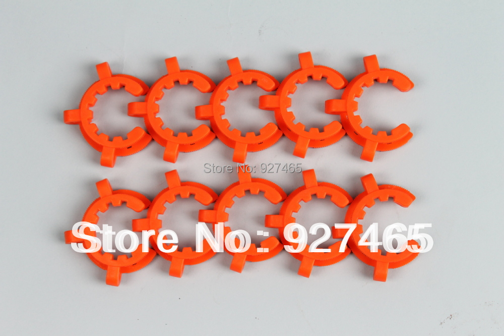 10 pcs Plastic Ground Joint Clip/ Joint Clamp for 29/42 Standard Taper Joints(China (Mainland))