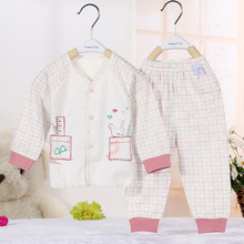 0-2T 100% cotton baby clothes sets boys and girls sleepwear suit soft fashion unisex pajamas CW-17(China (Mainland))