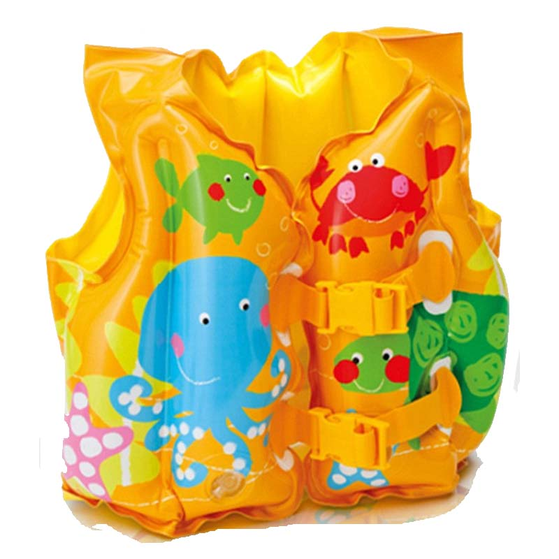 Intex Fun Fish Child Swim Vest Safety PVC inflatable life jacket swimsuit swim Vest Kids(China (Mainland))
