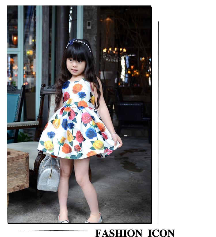 ()-spring flower sleevless dress child L-905 girl