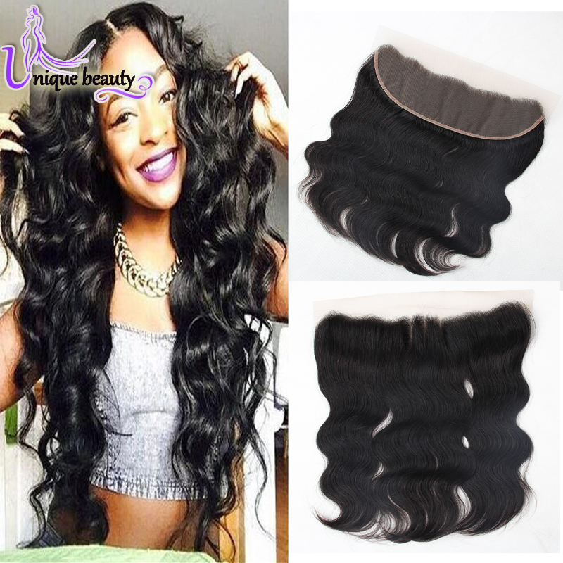 Full Lace Frontal Closure 13x4 Lace Frontal Closure Raw Indian Hair Bleached Knots Ear To Ear Lace Frontals With Baby Hair