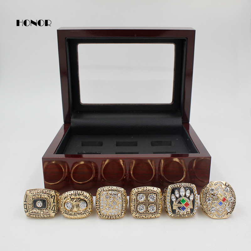 Pittsburgh Steelers Championship rings 1974 1975 1978 1979 2005 2008 6pcs Super Bowl replica Ring for fans as the souvenir 11S(China (Mainland))