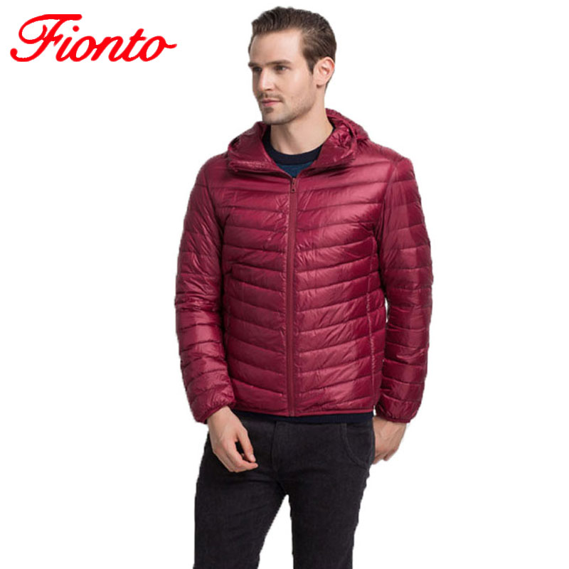 2017 Brand White Duck Down Jacket Men Autumn Warm Coat Men Ultralight Duck Down Hooded Jacket Casual Male Windproof Parka A902(China (Mainland))
