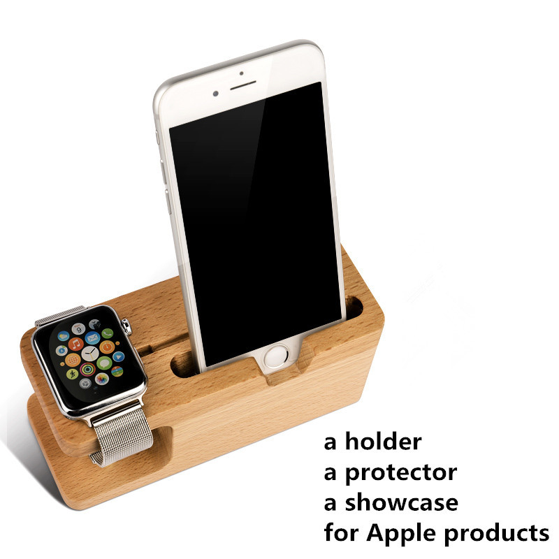 Portable Universal Wooden Phone Holder Stand Office Desk Home Table for iphone Holder Stand For iPhone 6 / Plus For Other Phones(China (Mainland))
