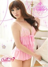 Sexy lingerie hot Sexy lingerie wholesale Pink (piece dress cake skirt)