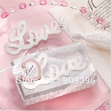 "DIY 30PC/LOT  Novelty Desion ""love"" Bookmark /Wedding Favors/Wedding Supplies/Wedding suppliers /Fashion Gift  free shipping #22"