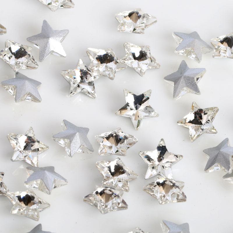 200Y47358 star glass crystal 200 pieces, DIY handmade materials, wedding gift wrap(China (Mainland))