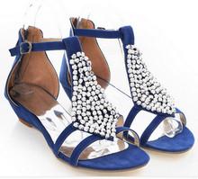 Big Size Woman Sandals Flat Fashion Vintage Buckle Strap Ladies sandals Classic Girl Rhinestone Summer Shoes Sandalia Feminina