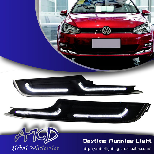 One-Stop Shopping for Golf7 LED DRL 2013-2014 Volks Wagen Golf 7 MK7 DRL Daytime Running Light Fog Lamp Automotive Accessories(China (Mainland))
